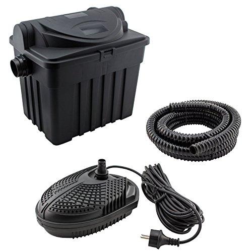Kerry Electronics keb06000 - Teichfilter-Set für Teiche bis 6000L: inkl. Filter, Pumpe, Schlauch und Zubehör