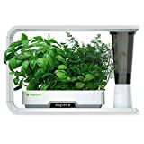 aspara GS1003-W Smart Hydroponic Indoor Growing System, 16 Plant Capsule Capacity, with 86 LED Lights, 10 Smart Sensors & Removable Water Reservoir, iOS and Android App Compatible, White