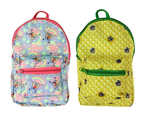 Nickelodeon's Spongebob Squarepants Back Pack Pencil Pouch, 9' x 5.5', x 2', Assorted, 1pc Design Will Vary