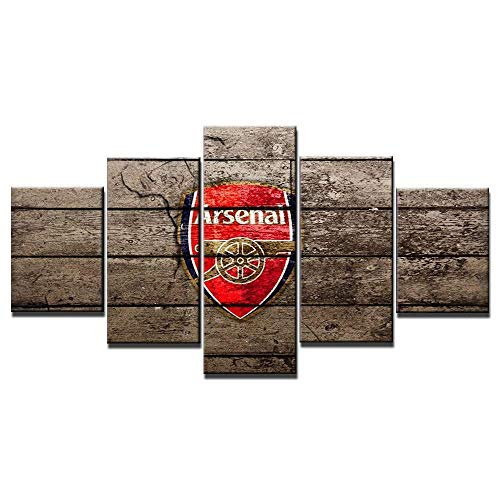 ZZXINK Arsenal Soccer Team Log 5 piece canvas wall art Oil Painting HD Print On Canvas Modern Decoration Wall Art Framed