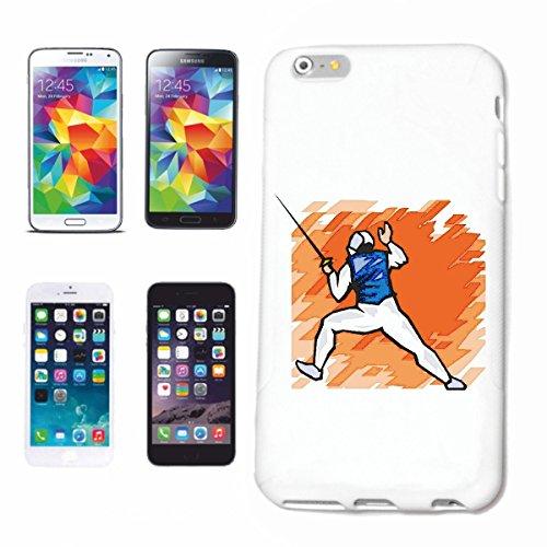 Reifen-Markt Funda para teléfono móvil compatible con iPhone 7+ Plus Fechten Degen Mega Sports Hobby Sport Rígida funda protectora Smart Cover