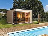 Holz Designhaus und Büro für den Garten
