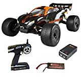 DF RC FighterTruggy 4 Brushless RTR waterproof inkl. Lipo Akku, Lade.