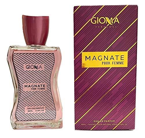 Magnate Eau De Parfum Intense 95 ml, Perfumes Imitaciones de Mujer, Equivalente Compatible con Montal. Roses Musk