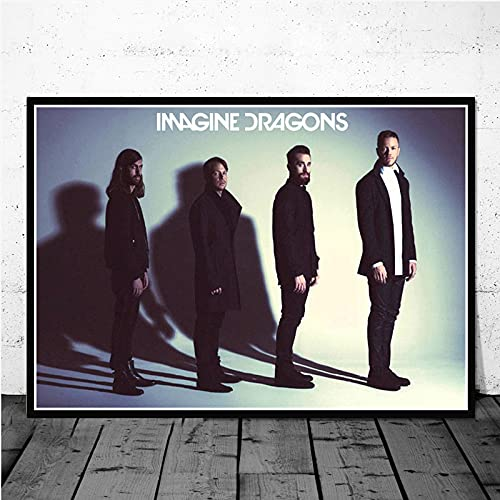 daerduotutu Imagine Dragons Evolve Origins Music Group Canvas Painting Posters And Art Picture Abstract Home Decor A239 50 × 70 cm Senza Cornice