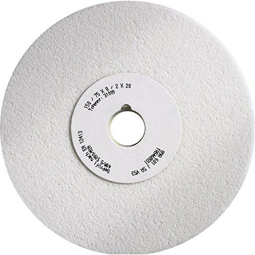 Tyrolit 31009 Schleifscheibe Konisch Form 3 Gerade Edelkorund, Korn 60, 150 mm x 8 mm x 20 mm