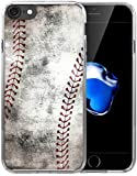 6S Case/6S Case Baseball Design/IWONE Designer Rubber Durable Protective Skin Cover Shockproof Compatible with iPhone 6S/6 Creative Vintage Baseball Art Pattern Printing