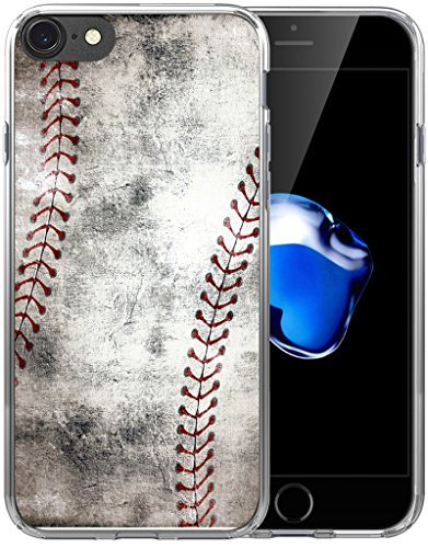IWONE 6S Case/6S Case Baseball Design Designer Rubber Durable Protective Skin Cover Shockproof Compatible with iPhone 6S/6 Creative Vintage Baseball Art Pattern Printing