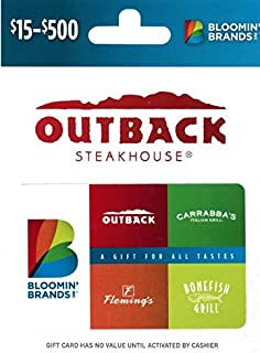bloomin brands inc gift card