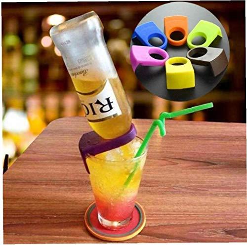 Lankater 6pcs Porta Botellas De Cerveza Hebillas Copa De Vino Beba Titulares De Clip Clips Snap Cerveza del Vino De Vidrio (Color Azar)