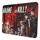 Akame Ga Kill! Alfombrilla de ratón antideslizante de poliéster con borde cosido, varios tamaños a elegir, adecuado para todo tipo de ratón
