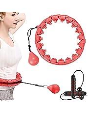 Kaiyingxin Hula Hoop Professionele fitness intelligente massage met massagekussen en 24 beweegbare delen, verstelbare taille, cirkel met gewichten, geschikt voor volwassenen en kinderen