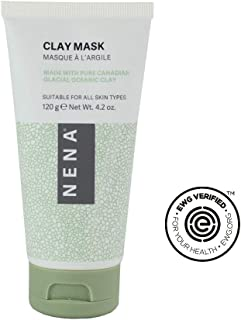 Nena Glacial Clay Mask for Face - Pore Refining, Anti-Aging, Exfoliating & Tightening Mud Mask - for All Skin Types incl. Sensitive - Not Scented - EWG Verified
