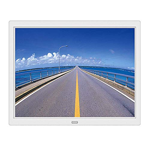 GOHHK Digitaler Bilderrahmen, 15-Zoll-Digital-Fotorahmen Seitentaste Wandmontiertes elektronisches Fotoalbum Auflösung 1024 x 768 (4: 3), Kalenderuhrfunktion