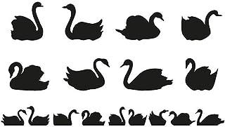 pegatinas de pared buhos Siluetas de cisnes Animales lindos para dormitorio de niños Diy