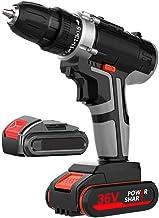 Taladro Atornillador, 36V Atornillador Bateria 32Nm 1350/min con Luces LED 15+1 Ajustes Par 3/8