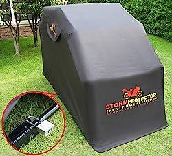 motorrad faltgarage stormprotector motorradgarage. Black Bedroom Furniture Sets. Home Design Ideas