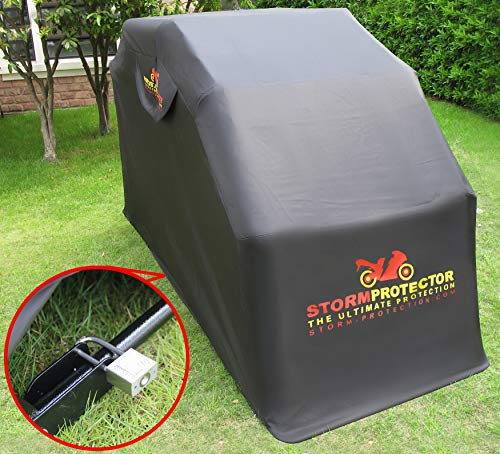 StormProtector Lockable Standard Size Motorcycle Shelter Mobility Scooter Cover With Quenched Steel Frame