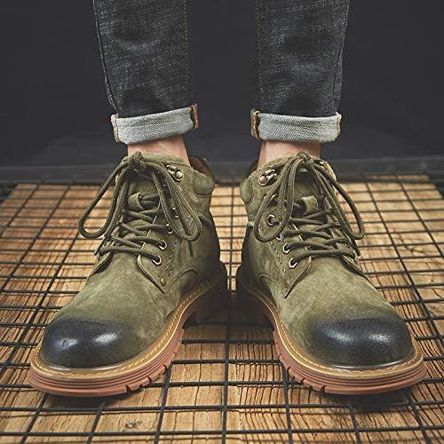 LOVDRAM Bottes Homme Bottes Martin pour Hommes Chaussures d'hiver en Coton avec Bottes Hautes pour Hommes