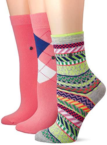 BURLINGTON Damen Socken Gift Set - Baumwollmischung, 3 Paar, Rosa (Pink 20), Größe: 36-41