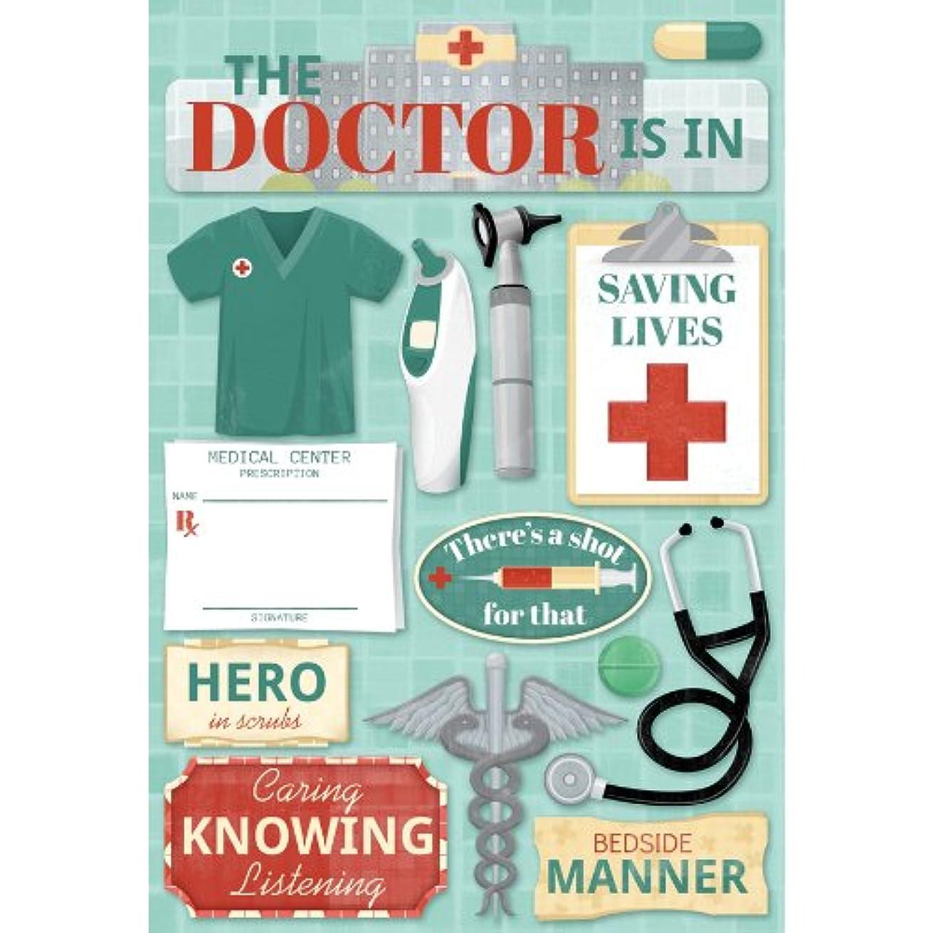 KAREN FOSTER 11587 Design Acid and Lignin Free Scrapbooking Sticker Sheet, The Doctor is in