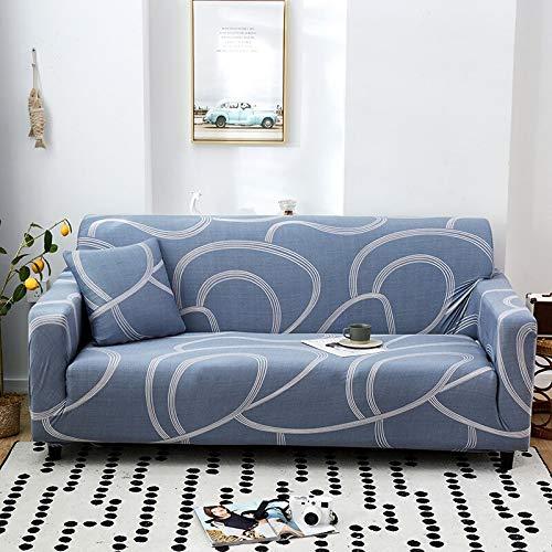 Funda de sofá elástica con patrón geométrico Fundas de sofá Todo Incluido elásticas para Sala de Estar Fundas de sofá Fundas de sofá A21 2 plazas