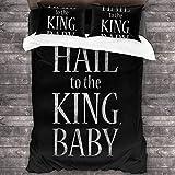 Evil Dead Hail to The King Baby Duke Nukem Juego de Cama de 3 Piezas Funda nórdica Juego de Cama Decorativo de 3 Piezas con 2 Fundas de Almohada
