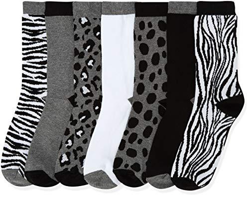 Marca Amazon - find. Calcetines Mujer, Gris (Grey Grey), 39-41 EU, Label: 6-8 UK