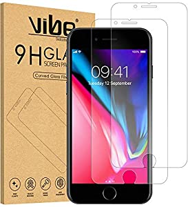 VIBE [2 Pack] Screen Protector for iPhone 8 7 6S 6 Tempered Glass Film, [Easy Installation] 0.3mm 9H Shatterproof Anti-Shatter Screen Protector for iPhone 6 6S 7 8 4.7