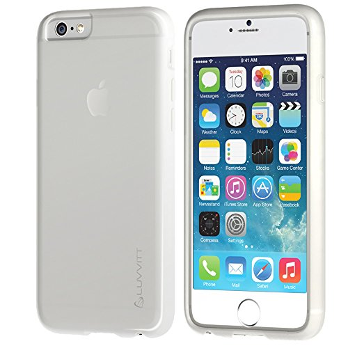 iPhone 6s Plus Case, LUVVITT [Frost] Soft Slim Transparent TPU Rubber Case Flexible Shock Absorbing Cover for iPhone 6/6s Plus (5.5) - Frosted Clear