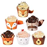 Woodland Baby Shower Cupcake Wrappers- Set of 24 Woodland Creatures