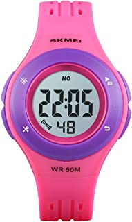 ساعة أطفال متعددة الوظائف 50 متر رياضية مضادة للماء في الهواء الطلق ساعة يد مع منبه ساعة إيقاف للرجال والبنات هدية للأطفال...