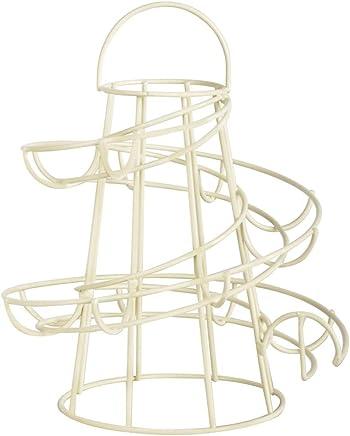 Preisvergleich für Esschert Design Eierständer aus Metall, 18 x 18 x 23 cm, in weiß, Frühstücksei-Ständer