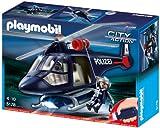 Playmobil 5178 Hélicoptère de Police avec projecteur LED