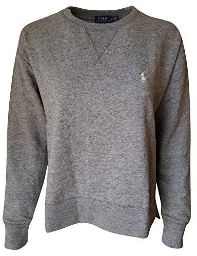 Ralph Lauren Damen Fleece Pullover Sweatshirt Polo - Grau - X-Large