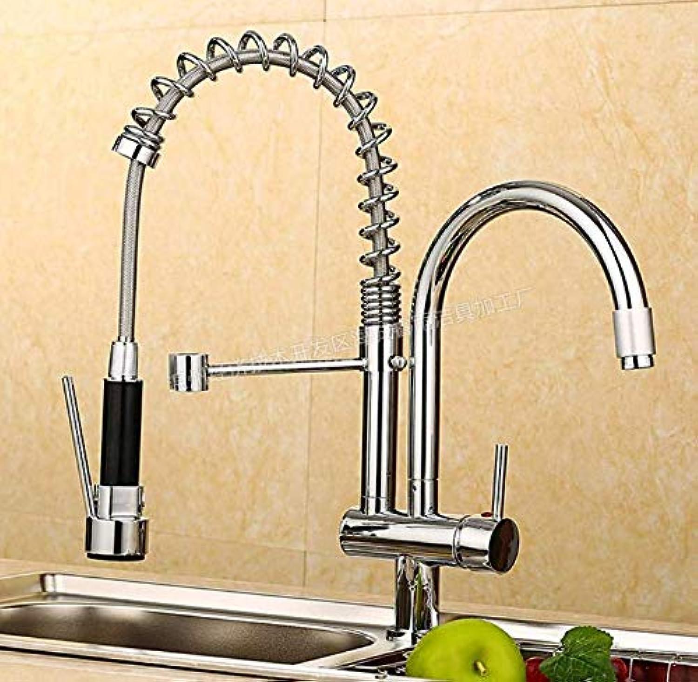 Wasserhahn Wasserhahn-Küchen-Doppelhahn-Küchen-Doppelhahn-Heier Und Kalter Wasserhahn