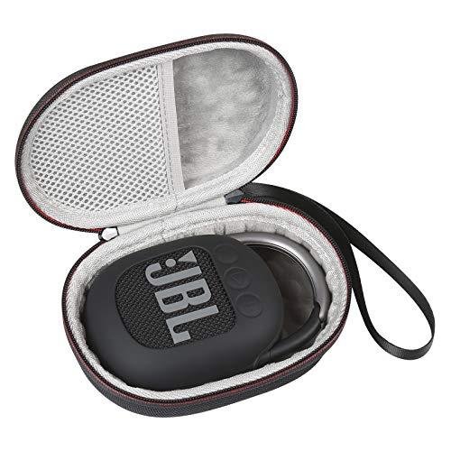 WERICO Estuche Viajes Funda Bolso + Funda de Silicona Protectora para JBL Clip 4 Altavoz inalámbrico con Bluetooth (Inside Gray +Funda de Silicona)