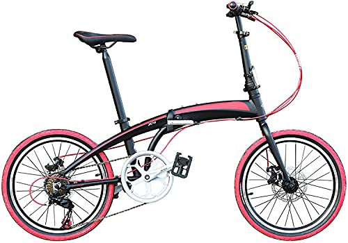 MENG Bicicleta Plegable para Adultos, Bicicleta de Montaña Premium - Bicicleta de M de Aleación para Niños, Niñas, Hombres Y Mujeres - 20 Pulgadas,C,20 Pulgadas