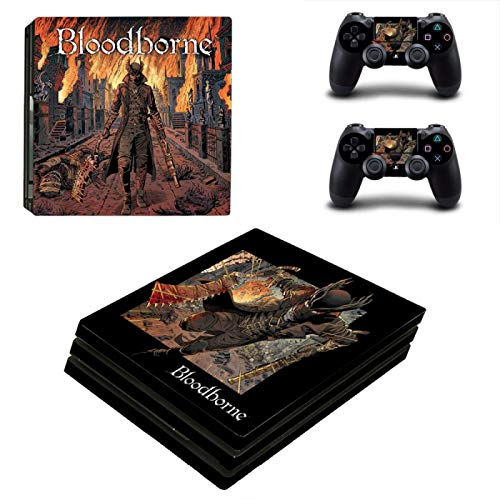 WANGPENG Bloodborne PS4 Pro Skin Sticker Decal per Playstation 4 DualShock 4 PS4 Console e 2 Controller PS4 Pro Skins Adesivi