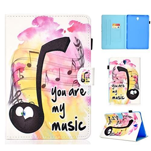 Tablet Hülle für Samsung Galaxy Tab S4 10.5 2018 T830 T835 Magnetverschluss Klappetui Brieftasche mit Ständer Schön Case Anime Colorful Painted Schutz Anti-Kratzer Stoßfest Schützend Schale Musik