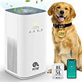 petnf 2021 Air Purifier for Home Allergies and Pet Dander Hair Odor,Upgraded Wifi App Remote Control,Mute Air Cleaner Odor Eliminators in Bedroom Living Room,Anti-tilt,42W Low Power,400CADR,560-1200ft²