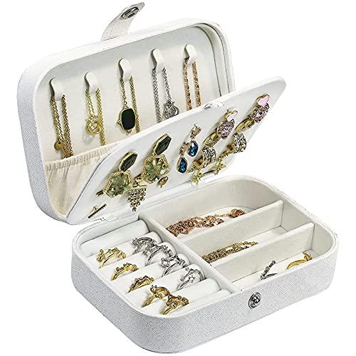 Comyglog WEII - Joyero de viaje para joyas, organizador de joyas, doble capa, portátil