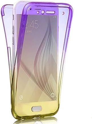 Karomenic 360 Grad Silikon H/ülle kompatibel mit Samsung Galaxy A3 2016 Fullbody Case Komplettschutz Handyh/ülle Vorne /& Hinten Rundum Schutzh/ülle Ganzk/örper D/ünn Durchsichtige Bumper Etui,Schwarz