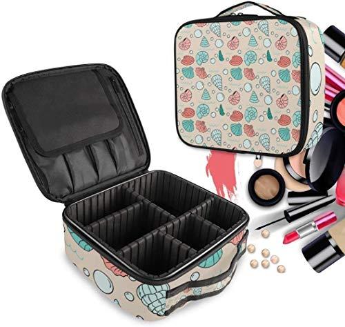 Cosmétique HZYDD Pink Shell Spot Make Up Bag Trousse de Toilette Zipper Sacs de Maquillage Organisateur Poche for Compartiment Femmes Filles Gratuit