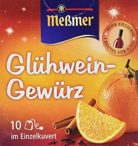 Meßmer Glühwein-Gewürz, 10 Beutel, 6er Pack (6 x 15 g)