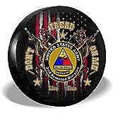 LYMT Don 't Tread On Me I' m Veterano de los Estados Unidos Segunda división blindada Rueda de Repuesto Cubierta del neumático para Remolque RV SUV Camión