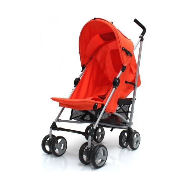 Zeta Vooom Stroller (Orange) ZETA Suitable From Birth Unique drop down privacy hood with parent window Complete with raincover 5