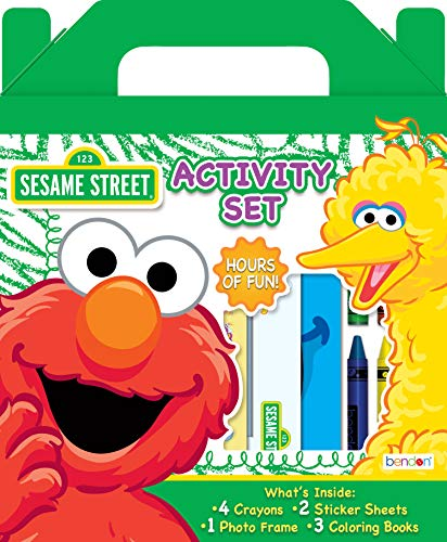 Sesame Street Elmo Coloring and Activity Carry Along Set Bendon AS45964