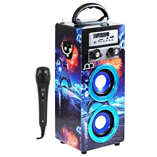 Music Life Altavoz Karaoke Bluetooth Portátil Inlámbrico USB Tarjeta TF Recargable...