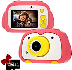 Develop kids' Interest - Kids Camera adopt fun photo frames and sounds to attract and hold children's long-term attention, Camera for kids can increase their interest in taking photos and videos and help to develop their intelligence and creativity. ...